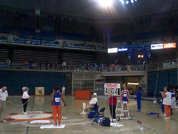 Gator Invitational indoor shot competition